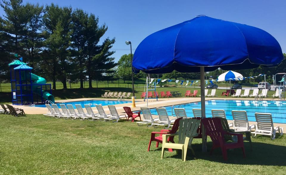 Jennersville YMCA Outdoor Pool with Slide