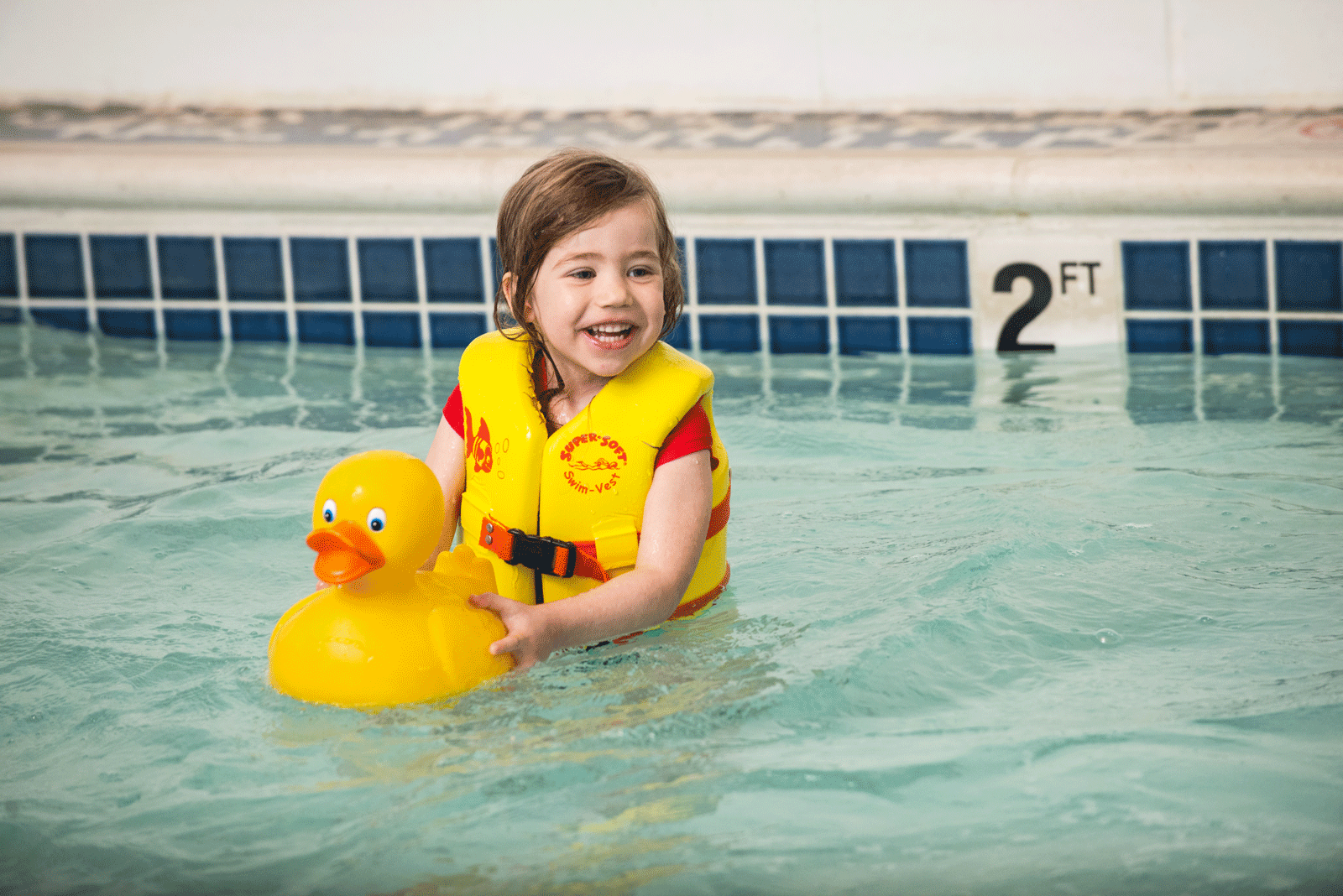 Kids enjoy swim lessons at the YMCA