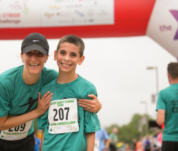 STRIDE a YMCA program for young boys teachings leadership, self confidence and teamwork and culminates in a 5K race.