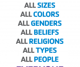 We Welcome all sizes, all colors, all people