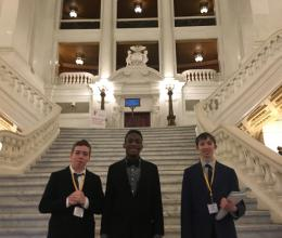 Brandywine YMCA youth attend a youth and government leadership development event in Harrisburg